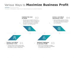 Various Ways To Maximize Business Profit
