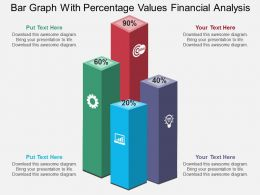 vd Bar Graph With Percentage Values Financial Analysis Flat Powerpoint Design