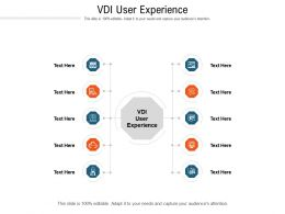 VDI User Experience Ppt Powerpoint Presentation Layouts Backgrounds Cpb