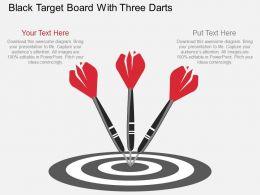 ve_black_target_board_with_three_darts_flat_powerpoint_design_Slide01