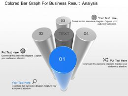 Ve Colored Bar Graph For Business Result Analysis Powerpoint Template