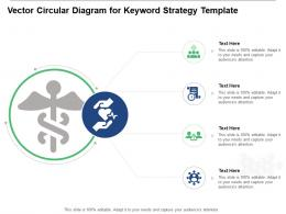 Vector Circular Diagram For Keyword Strategy Infographic Template