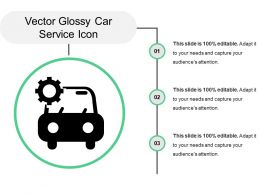 Vector Glossy Car Service Icon