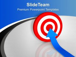 Vector Illustration Of Arrow And Target Powerpoint Templates PPT Backgrounds For Slides 0213