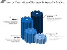Vector Illustration Of Business Infographic Made Of Gears