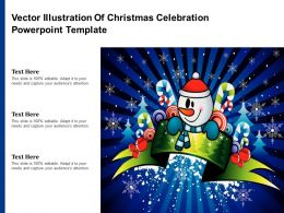 Vector Illustration Of Christmas Celebration Powerpoint Template