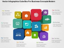 Vector Infographics Cube Box For Business Concepts Modern Flat Powerpoint Design