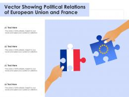 Vector Showing Political Relations Of European Union And France