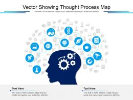 Vector Showing Thought Process Map