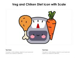 Veg And Chiken Diet Icon With Scale