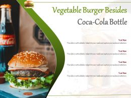 Vegetable Burger Besides Coca Cola Bottle