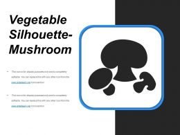 Vegetable Silhouette Mushroom Ppt Sample File