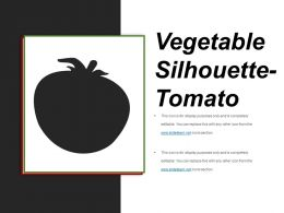 Vegetable Silhouette Tomato Powerpoint Guide