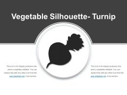 Vegetable Silhouette Turnip Powerpoint Ideas