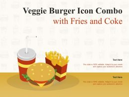 Veggie Burger Icon Combo With Fries And Coke