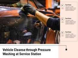 Vehicle Cleanse Through Pressure Washing At Service Station