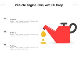 Vehicle Engine Can With Oil Drop
