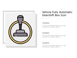 Vehicle Fully Automatic Gearshift Box Icon