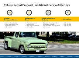 Vehicle Rental Proposal Additional Service Offerings Ppt Powerpoint Inspiration Graphic
