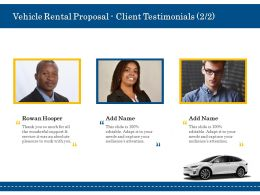 Vehicle Rental Proposal Client Testimonials Ppt Powerpoint Infographic Template