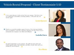 Vehicle Rental Proposal Client Testimonials Teamwork Ppt Powerpoint Information