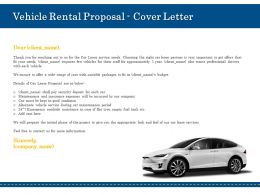Vehicle Rental Proposal Cover Letter Ppt Powerpoint Presentation Infographic Graphic