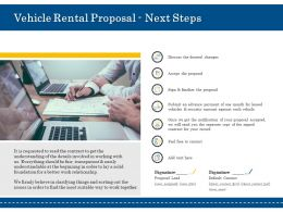 Vehicle Rental Proposal Next Steps Ppt Powerpoint Presentation File Visuals