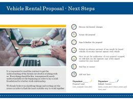 Vehicle Rental Proposal Next Steps Ppt Powerpoint Presentation File Visuals