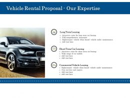 Vehicle Rental Proposal Our Expertise Ppt Powerpoint Presentation Infographic