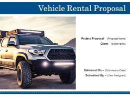 Vehicle Rental Proposal Powerpoint Presentation Slides