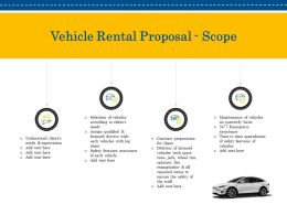 Vehicle Rental Proposal Scope Ppt Powerpoint Presentation Show Inspiration