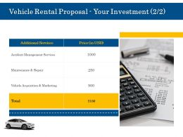 Vehicle Rental Proposal Your Investment L2036 Ppt Powerpoint File Designs