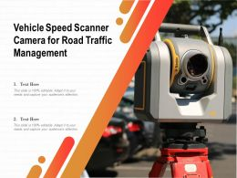 Vehicle Speed Scanner Camera For Road Traffic Management