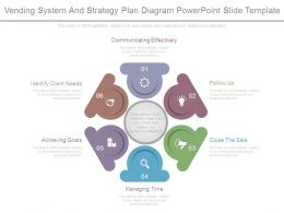 Vending System And Strategy Plan Diagram Powerpoint Slide Template
