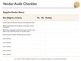 Vendor Audit Checklist Ppt Powerpoint Presentation Icon Graphics Tutorials