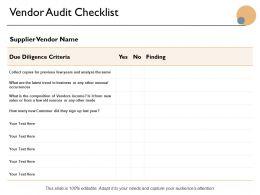 Vendor Audit Checklist Ppt Powerpoint Presentation Icon Graphics Tutorials