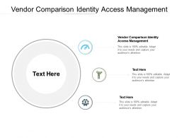 Vendor Comparison Identity Access Management Ppt Powerpoint Portfolio Cpb