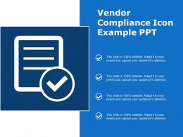 Vendor Compliance Icon Example Ppt
