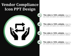 Vendor Compliance Icon Ppt Design