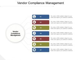 Vendor Compliance Management Ppt Powerpoint Presentation Infographics Slide Download Cpb