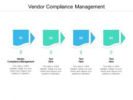 Vendor Compliance Management Ppt Powerpoint Presentation Professional Designs Cpb