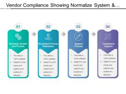 Vendor Compliance Showing Normalize System And Process Realization