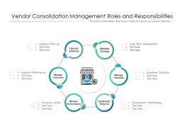Vendor Consolidation Management Roles And Responsibilities