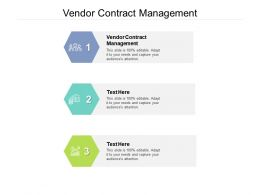Vendor Contract Management Ppt Powerpoint Presentation Model Inspiration Cpb