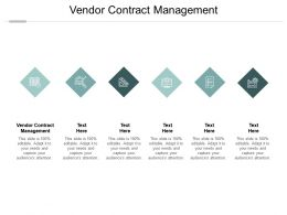 Vendor Contract Management Ppt Powerpoint Presentation Outline Information Cpb
