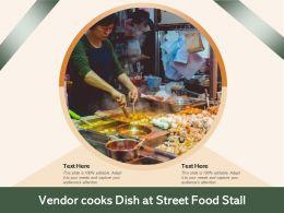 Vendor Cooks Dish At Street Food Stall
