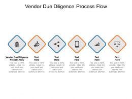 Vendor Due Diligence Process Flow Ppt Powerpoint Presentation Pictures Cpb