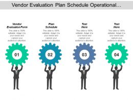 Vendor Evaluation Form Plan Schedule Operational Processes Social Networking Cpb