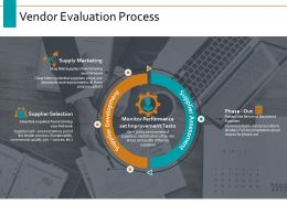 Vendor Evaluation Process Ppt Powerpoint Presentation Visual Aids Outline