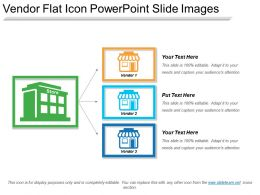Vendor Flat Icon Powerpoint Slide Images